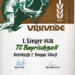 1974 Herren Urkunde KL 2