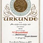 1977 Herren Urkunde KL 2