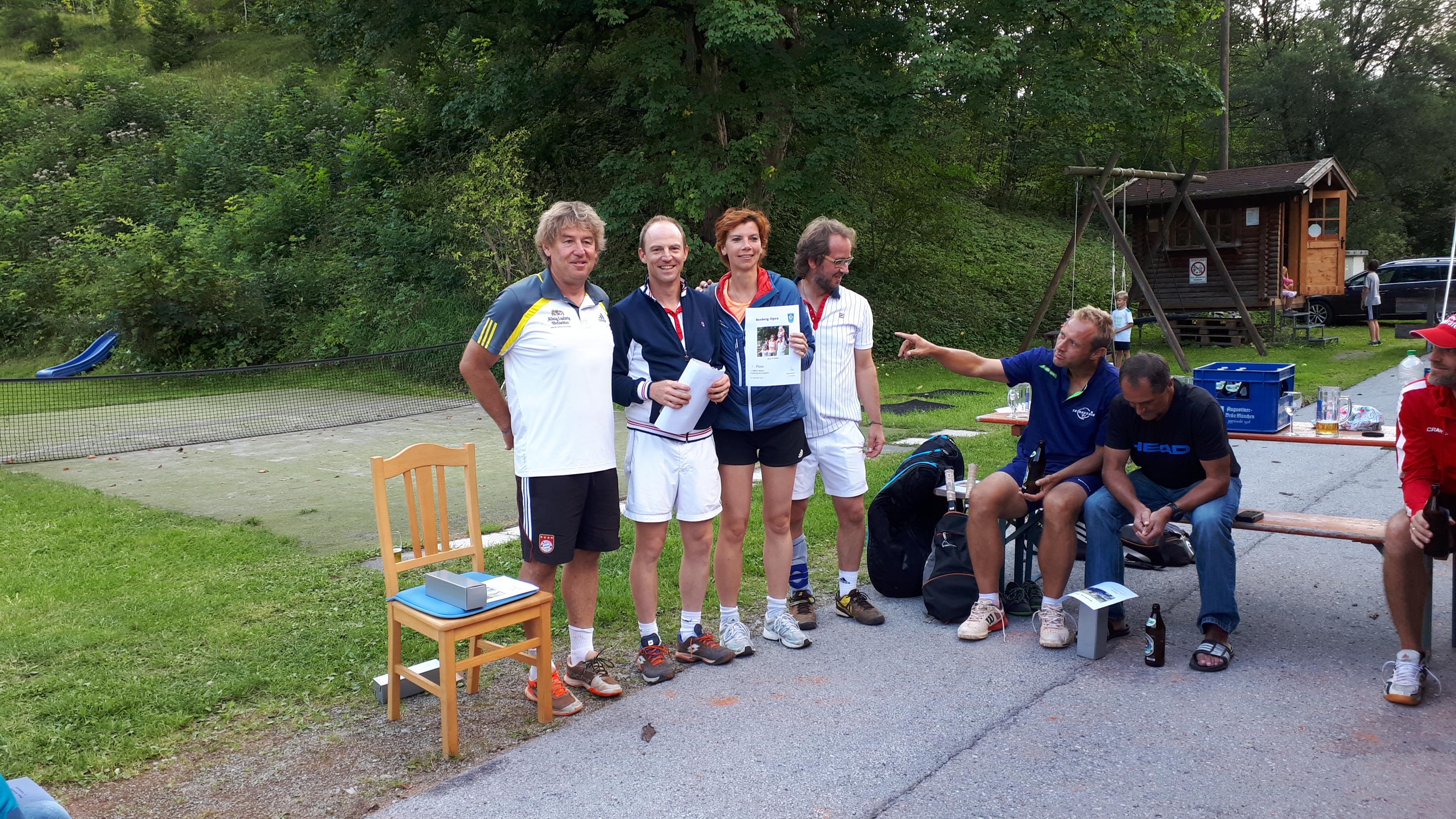 Gewinner der 1. Seeberg Open – Offenes Mixed Turnier – sind ….